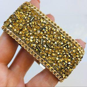 """Gold crystal Nordstrom bracelet cuff 7"""""""